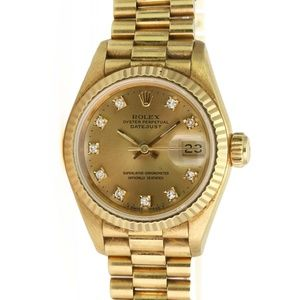 Rolex Datejust 69178 18k Yellow Gold with Diamonds